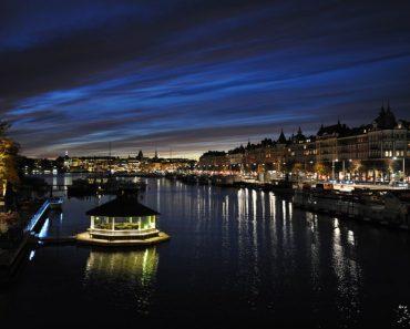 Stockholm kvällstid.
